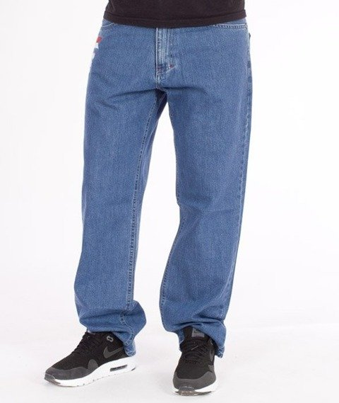 El Polako-Flag Regular Jeans Light Blue