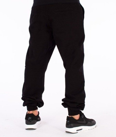 El Polako-Front Number Regular Jogger Spodnie Czarne