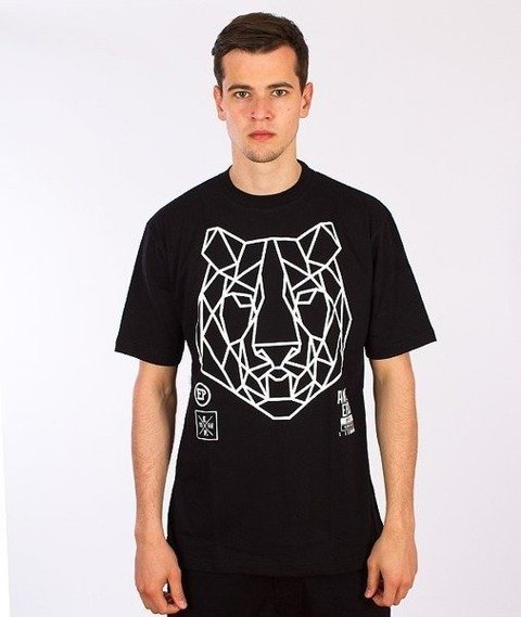 El Polako-Geometric Tiger T-Shirt Czarny