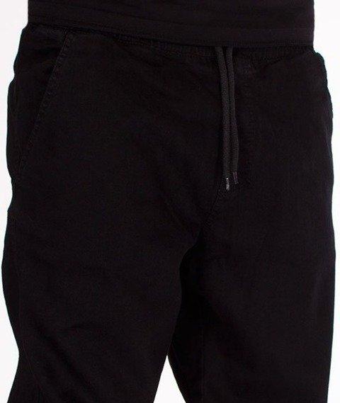 El Polako-Handwritten Jogger Stretch Slim Guma Spodnie Czarny Jeans