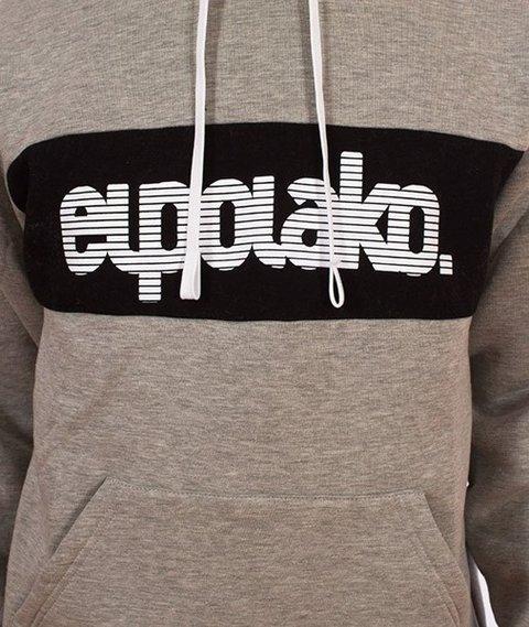 El Polako-Kangurka Alfabet Bluza Kaptur Szary