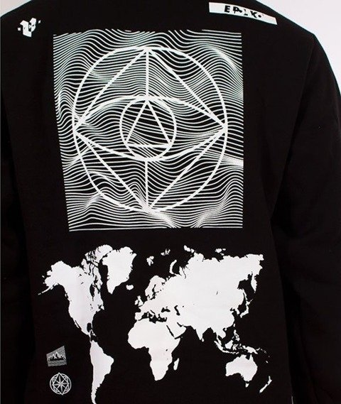 El Polako-Kangurka Circle World Bluza Kaptur Czarna