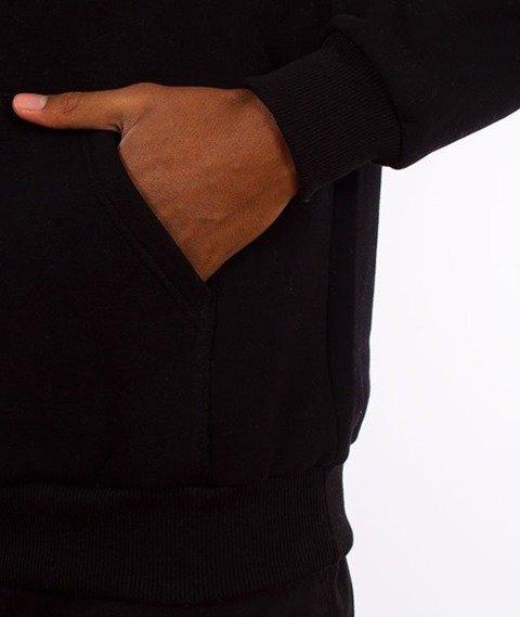 El Polako-Kangurka Colors Cut Bluza Kaptur Czarny/Biały