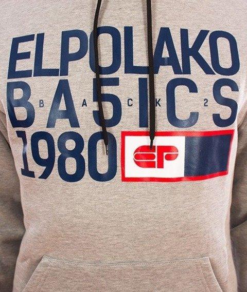 El Polako-Kangurka EP Basic Bluza Kaptur Szary