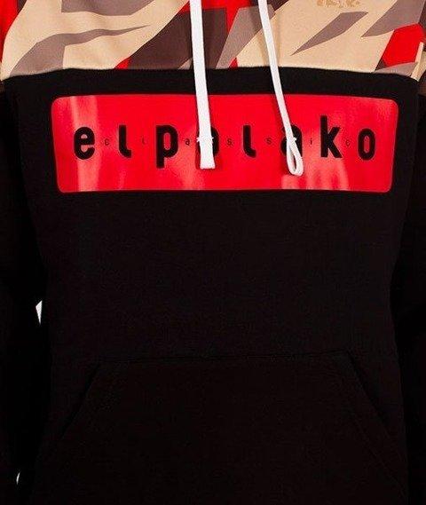 El Polako-Kangurka Half Bluza Kaptur Triangle Moro Red