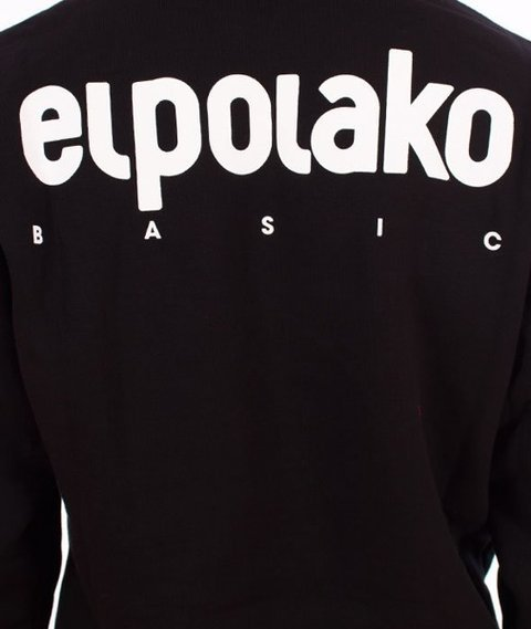 El Polako-Kangurka Little Classic Bluza Kaptur Czarny