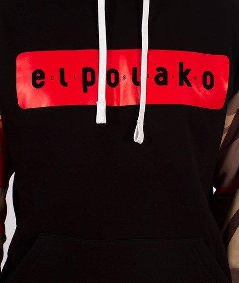 El Polako-Kangurka Sleeve Bluza Kaptur Triangle Moro Red