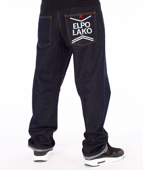 El Polako-Line EP Regular Jeans Spodnie Dark Blue