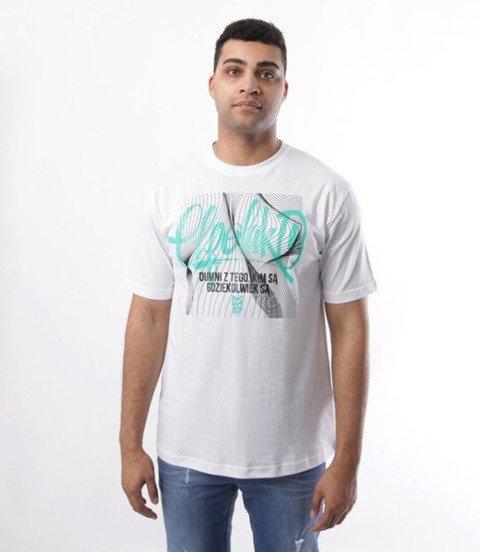 El Polako-Lines Handmade T-Shirt Biały