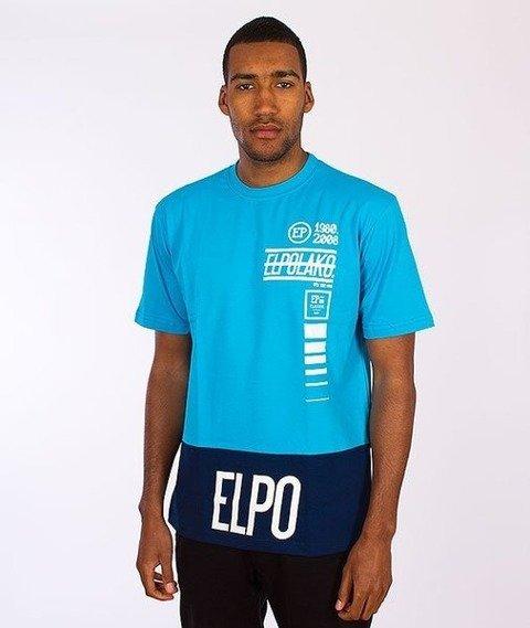 El Polako-Lines T-Shirt Niebieski