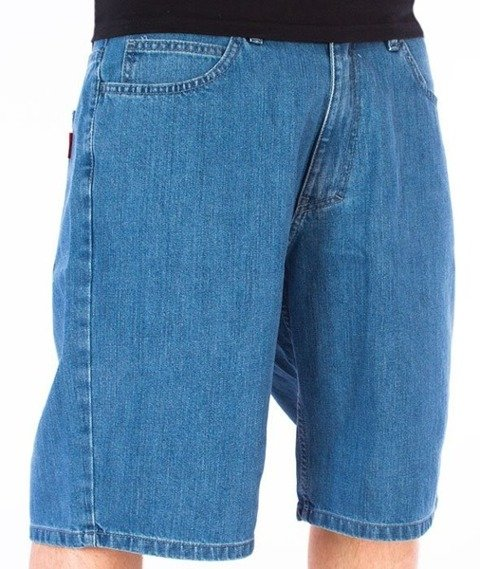 El Polako-Logo Cut Spodnie Krótkie Jeans Light Blue