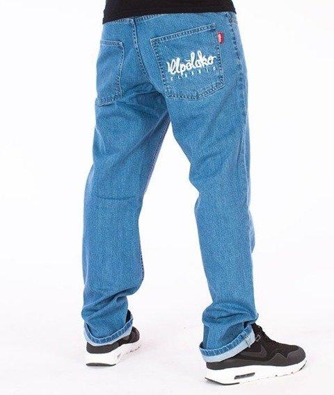 El Polako-Logo Slim Jeans Spodnie Light Blue