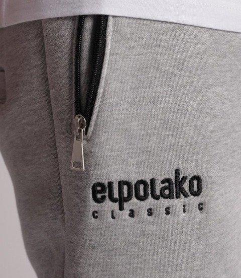 El Polako-Mini Logo Fit Spodnie Dresowe Jasno Szare