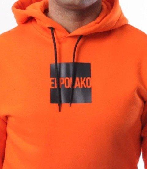 El Polako-New Box Bluza Kaptur Pomarańcz