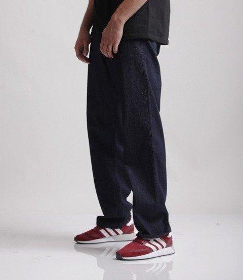 El Polako-OK Spodnie Baggy Jeans Ciemne Spranie