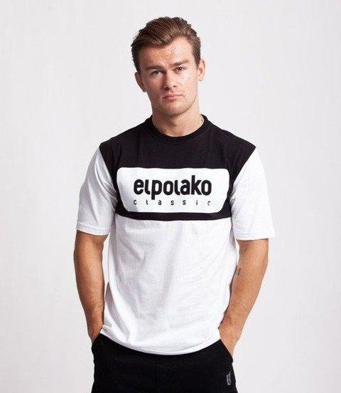 El Polako PLATE T-Shirt Biały, Czarna góra