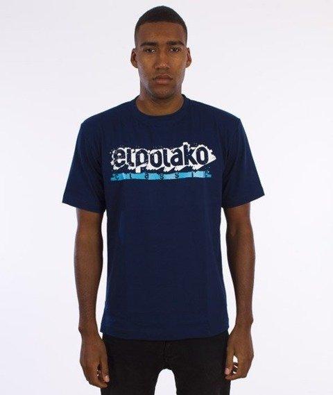 El Polako-Paint Classic T-Shirt Granatowy