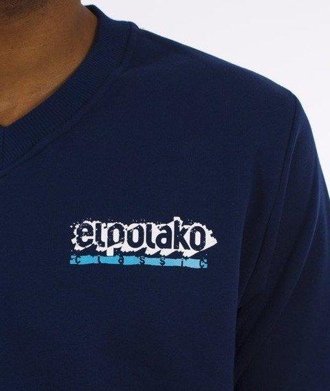 El Polako-Paint Classic V-Neck Bluza Granatowa