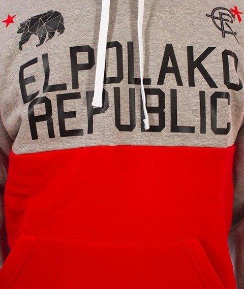 El Polako-Republic Bluza Kaptur Szary