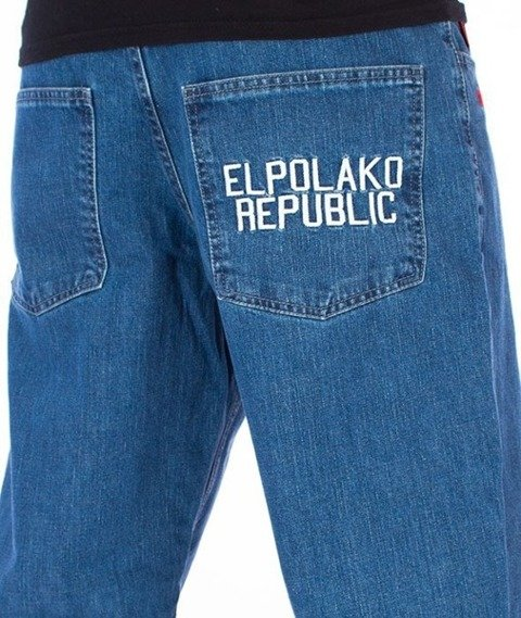 El Polako-Republic Regular Jeans Spodnie Light Blue