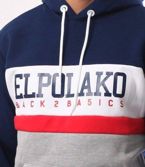El Polako-School Bluza Kaptur Granat