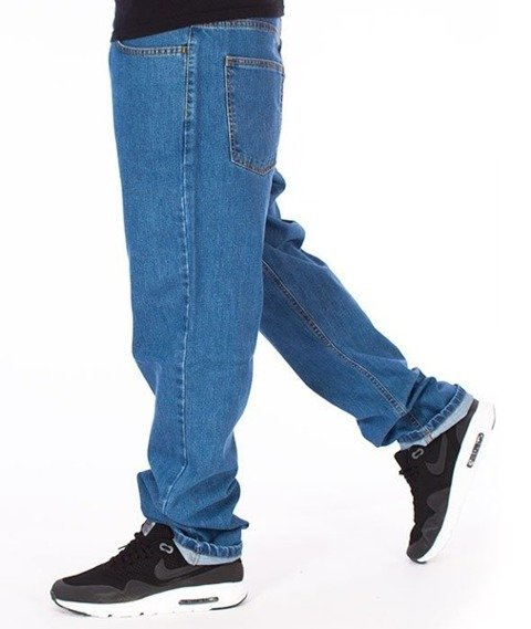 El Polako-Splash Tags Slim Jeans Spodnie Light Blue