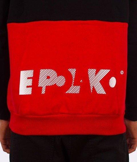 El Polako-Style Bluza Kaptur Czarny/Czerwony