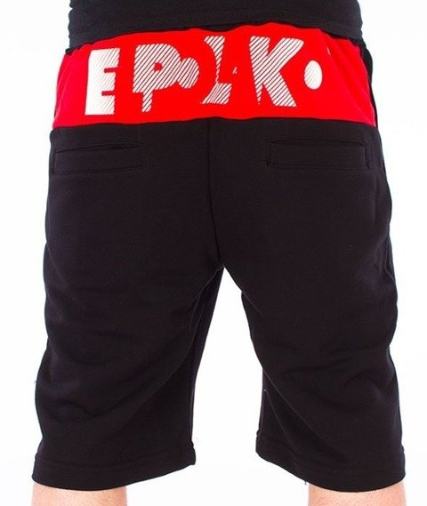 El Polako-Style Spodnie Krótkie Dresowe Czarne