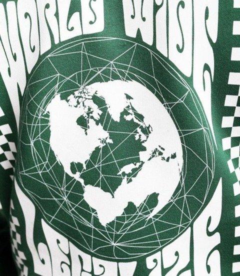 El Polako WORLD WIDE Bluza z Kapturem Zielony