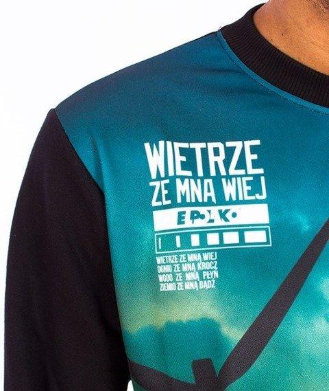 El Polako-Wiatr Bluza Czarna/Multikolor