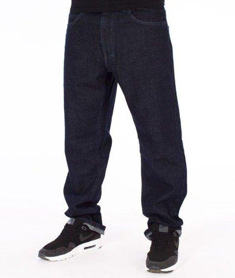 El Polako-Written Slim Jeans Spodnie Dark Blue