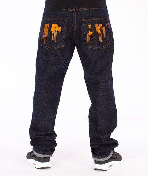 El Polako-Zaciek Slim Jeans Spodnie Dark Blue