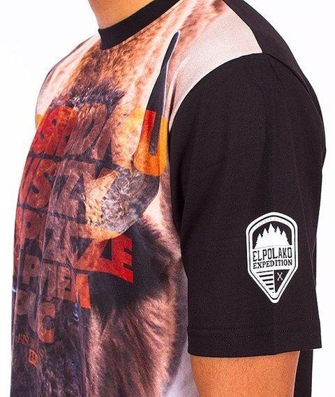 El Polako-Żubr T-Shirt Czarny/Multikolor