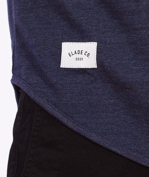 Elade-Minimal Scallop T-Shirt Jeansowy Niebieski