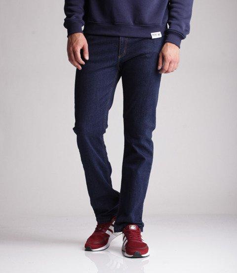 Elade Spodnie Jeansowe Regular Ciemny Niebieski