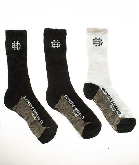 Extreme Hobby-Classic Socks Skarpety 3 Pack Czarne/Białe