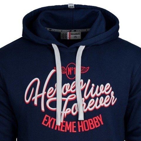 Extreme Hobby-Nbr One Hoodie Bluza Kaptur Granatowa