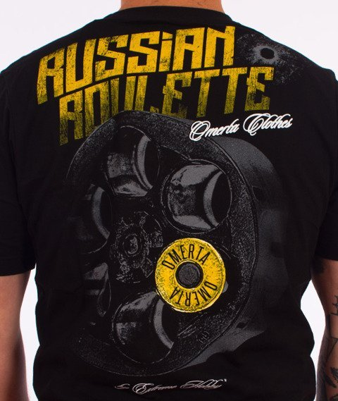 Extreme Hobby-Russian Roulette T-shirt Czarny