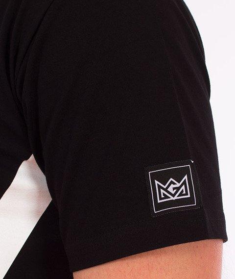 Ganja Mafia-Cartoon GM T-Shirt Czarny