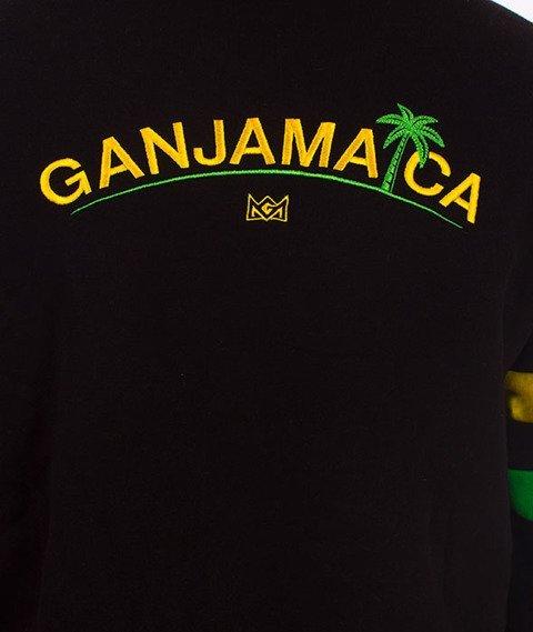 Ganja Mafia-Ganjamaica Flag Bluza Kaptur Czarna