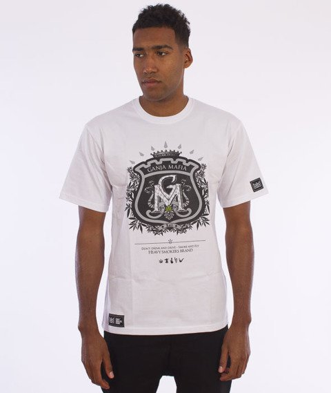 Ganja Mafia-Herb T-Shirt Biały/Czarny