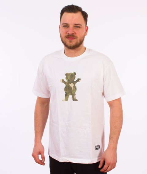 Grizzly-Kayak OG Bear T-Shirt White