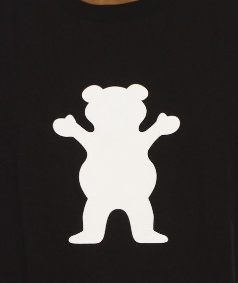 Grizzly-OG Bear Logo Basic T-Shirt Black