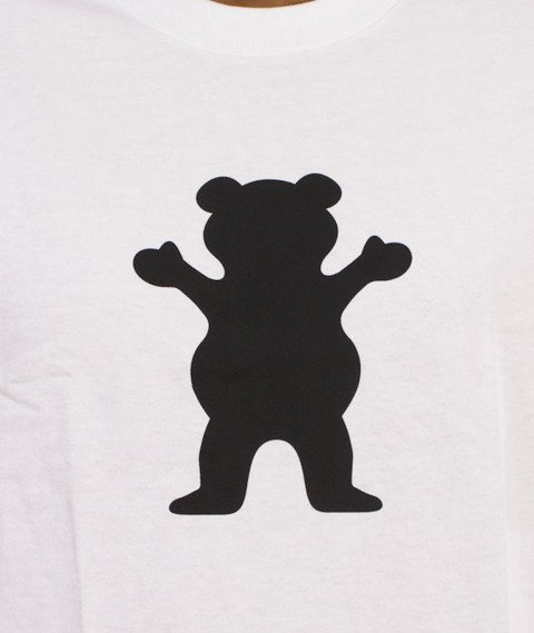 Grizzly-OG Bear Logo Basic T-Shirt White