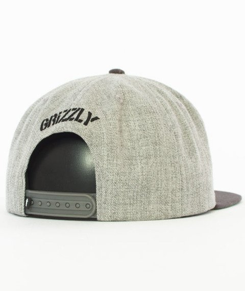 Grizzly-Stamp Snapback Heather Grey