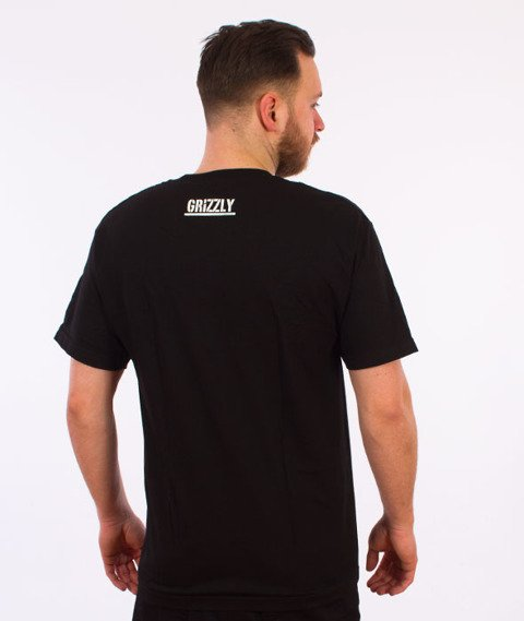Grizzly-Stencil Stamp T-Shirt Black