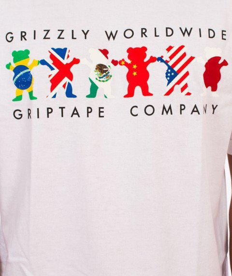 Grizzly-Worldwide Tribe T-Shirt White