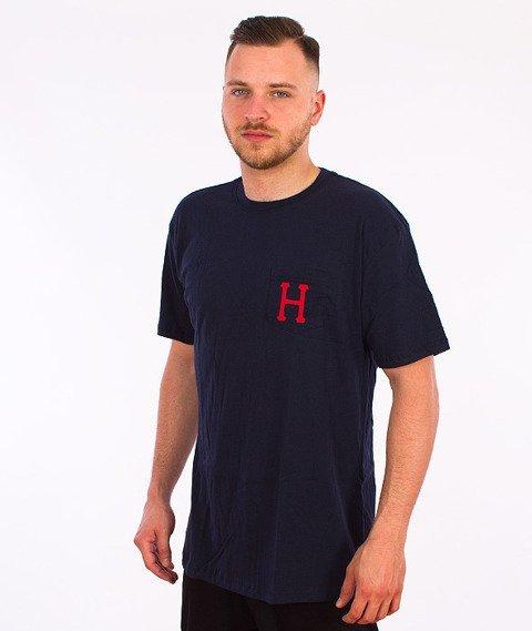 HUF-Classic H Pocket T-Shirt Granatowy