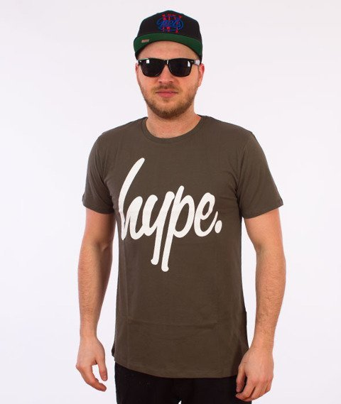 Hype-Basic Logo T-Shirt Khaki