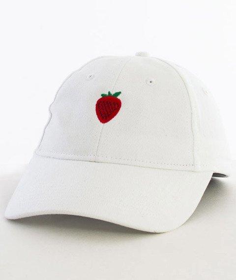 Hype-Strawberry Dad Hat Czapka Z Daszkiem White